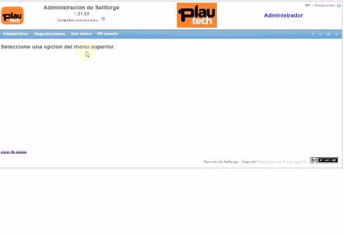 Actualizar servidor Sellforge
