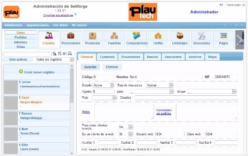 Cliente catálogo virtual